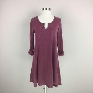 NWT Z Supply Distressed Tempo Dress Size XS Maroon